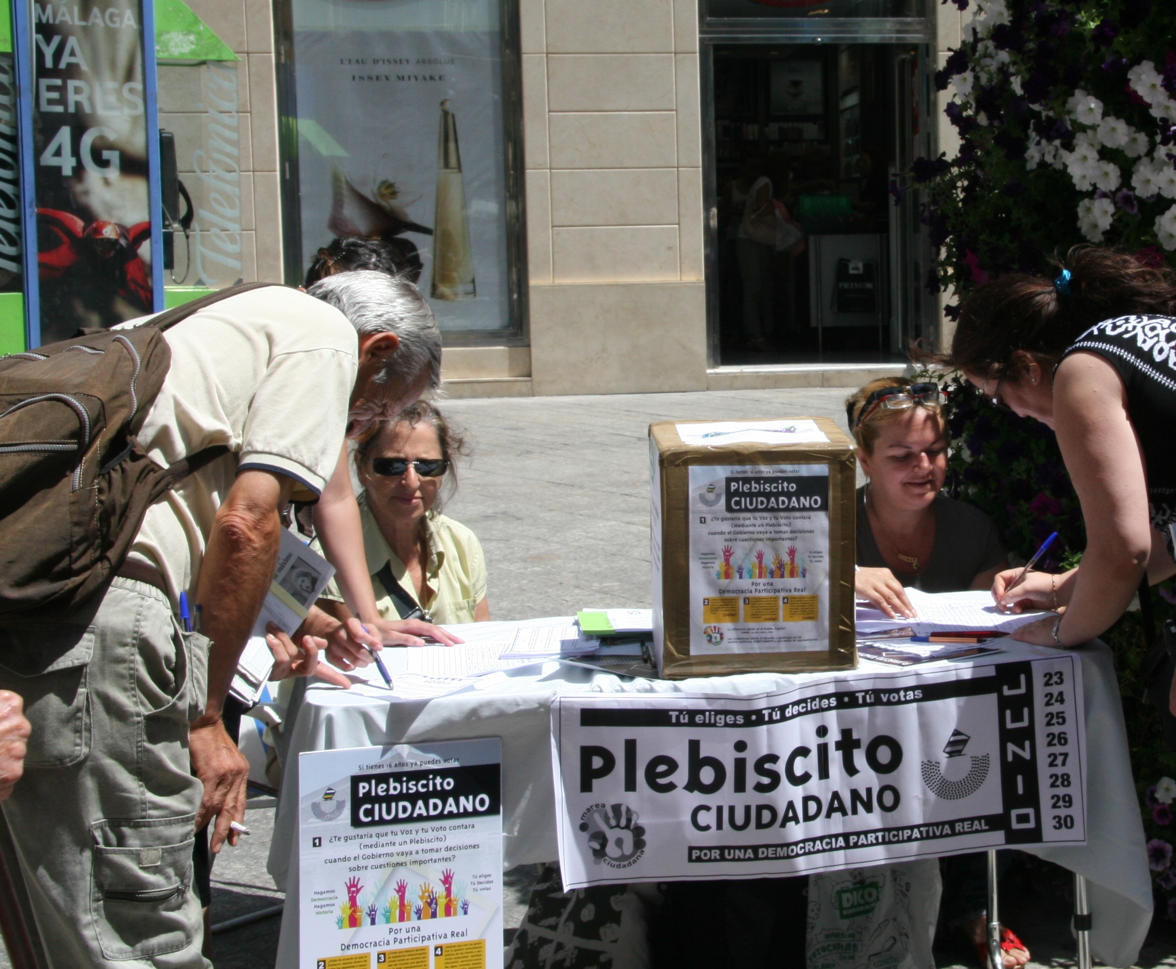 imagen del plebiscito ciudadano en Málaga