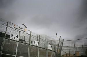 Paso fronterizo del Barrio Chino en Melilla para cruce de los porteadores.