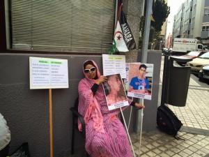 Mujer saharaui en huelga de hambre en Las Palmas