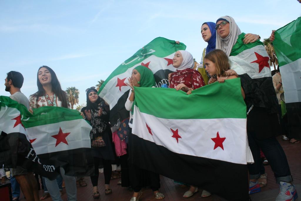 Sirias concentradas por los refugiados en Málaga
